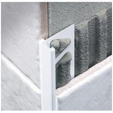 Profilis L-forma h8mm / baltai dažytas aliuminis /