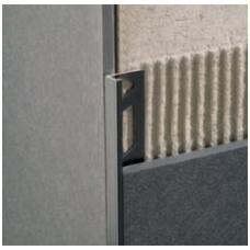 Profilis L-forma 12mm / juodas /