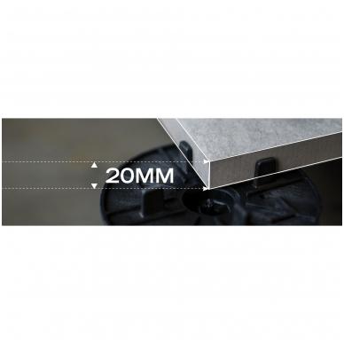 2 cm storio plytelės Light Grey 100x100