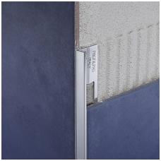 Profilis L-forma h8mm / anoduotas aliuminis /