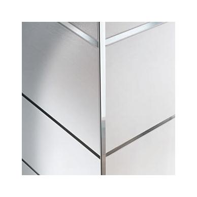 Profilis L-forma h10mm / chromuotas aliuminis /