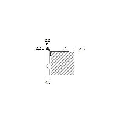 Profilis Y-forma h4,5mm