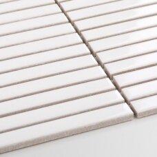 Mozaika Stick White Glossy 15x145 mm