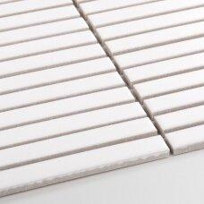 Mozaika Stick White Matt 15x145 mm