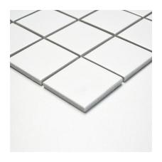 Mozaika White Mat 48x48mm