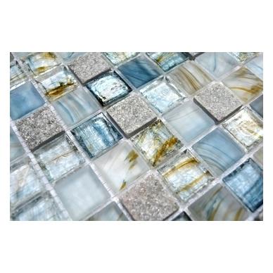 Mozaika Crystal/Stone Lightgrey Mix 25x25