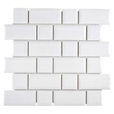 Mozaika Metro Uni White Mix