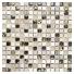 Mozaika Quadrat Crystal/Stein Mix Hellgrau/Gold