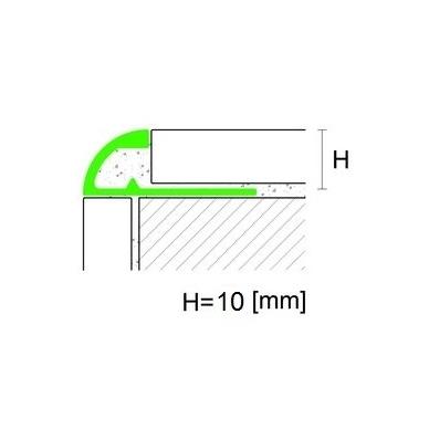 Nerūdijančio plieno profilis J-forma 10mm