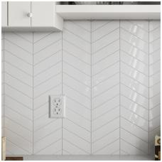 Plytelės Chevron Wall White 18,6x5,2