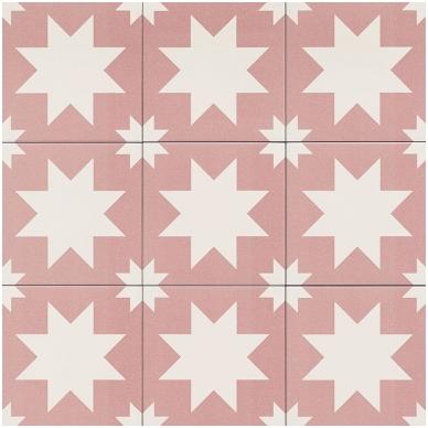 Plytelės Fired Star Pink 20x20