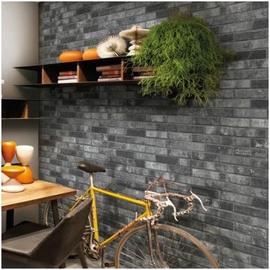 Plytelės London Charcoal Brick 6x25 2