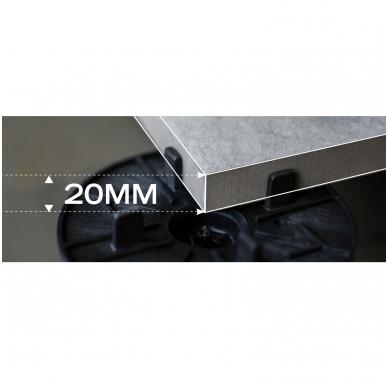 Plytelės 20mm Solo Grigio 60x60