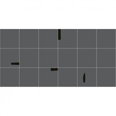 Plytelės Pack Graphite Black 15x15 3