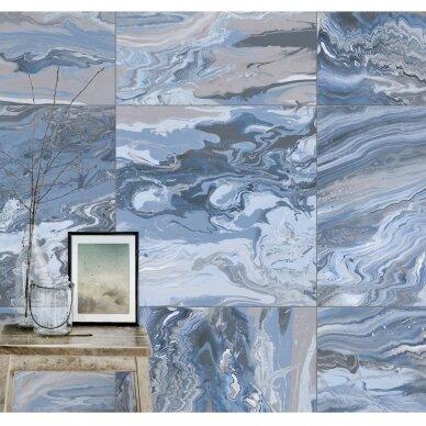 Plytelės Ebru Blue 66x66