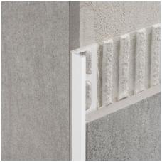 Profilis L-forma h10mm / baltai dažytas aliuminis /