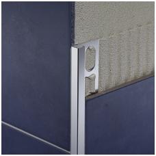 Profilis P-forma h10mm / chromuotas aliuminis /