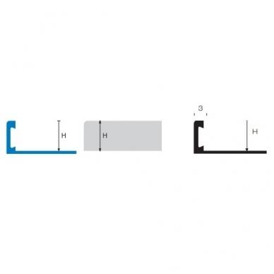 Profilis L-forma h8mm / matinis nerūdijantis plienas /