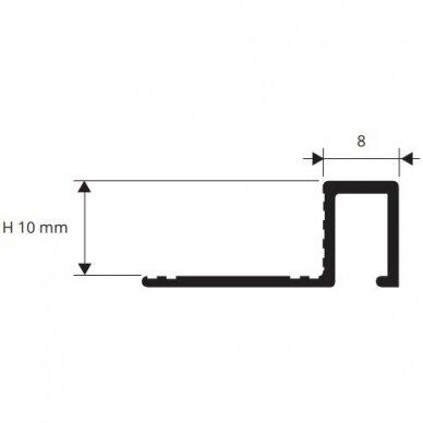 Profilis Profinal 10mm / poliruotas žalvaris / 2