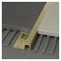 Profilis P-forma 10mm / matinis žalvaris /